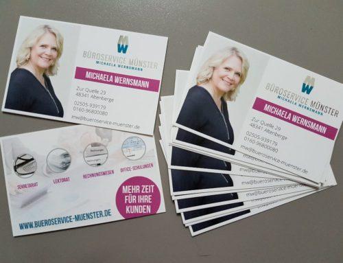 Aus MW Management Support wird Büroservice Münster